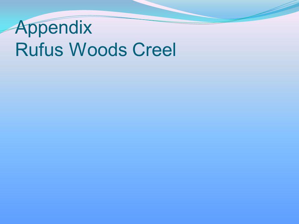 Appendix Rufus Woods Creel