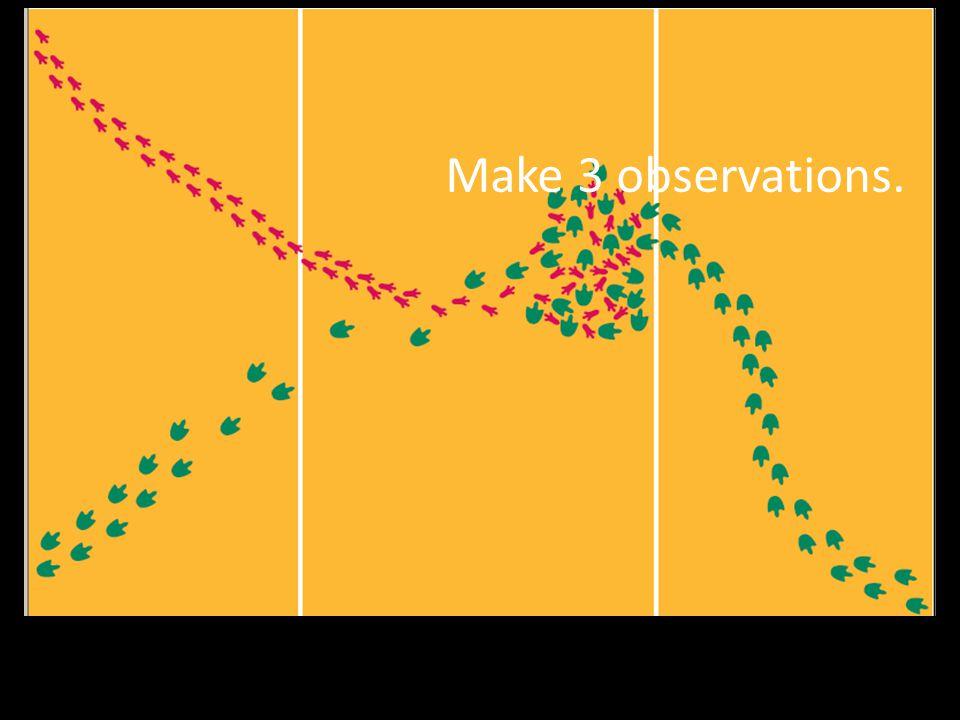 Make 3 observations.