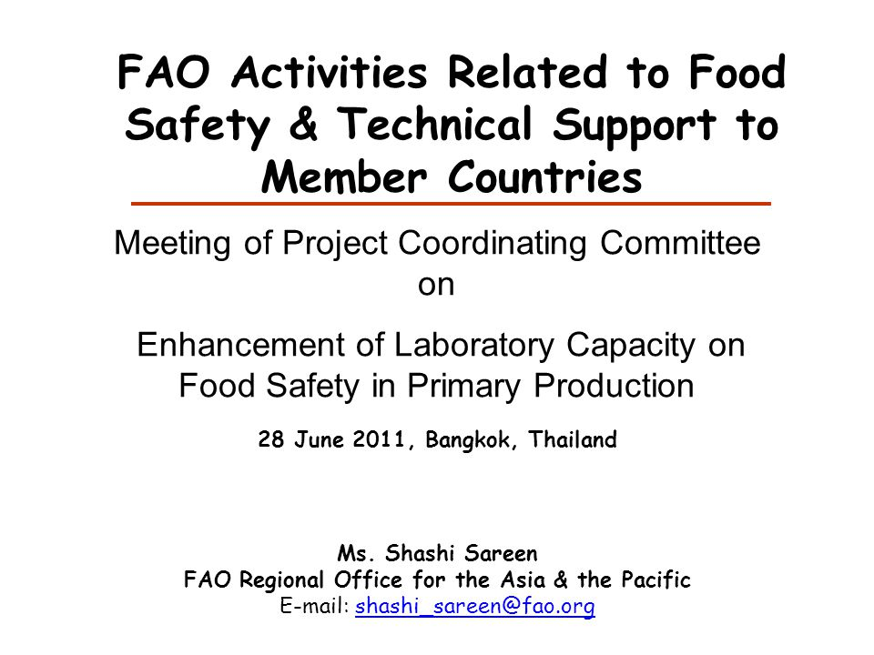 Preventive approaches to FSM communication campaign on food safety
