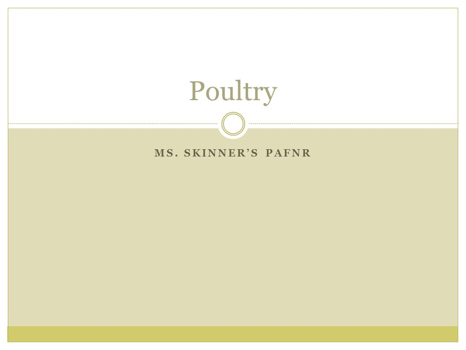 MS. SKINNERS PAFNR Poultry