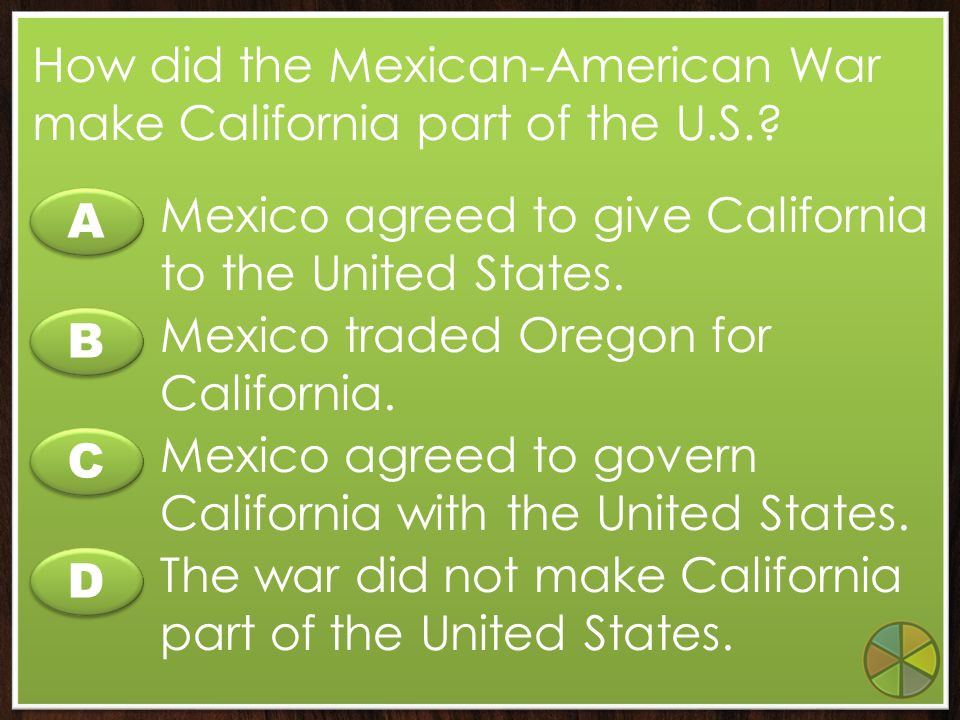 A A B B C C D D What did Bernarda Ruiz tell John C. Fremont that affected the Treaty of Cahuenga? The treaty should not punish the Californios. The tr