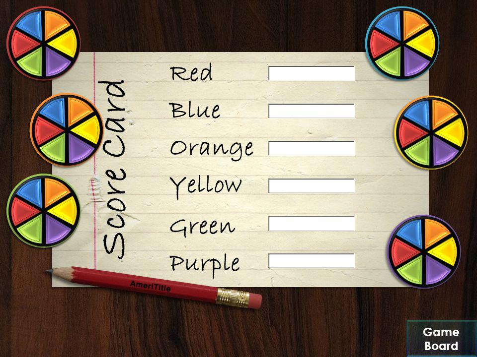 Score Board Categories