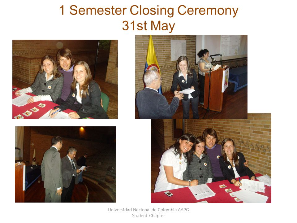 1 Semester Closing Ceremony 31st May