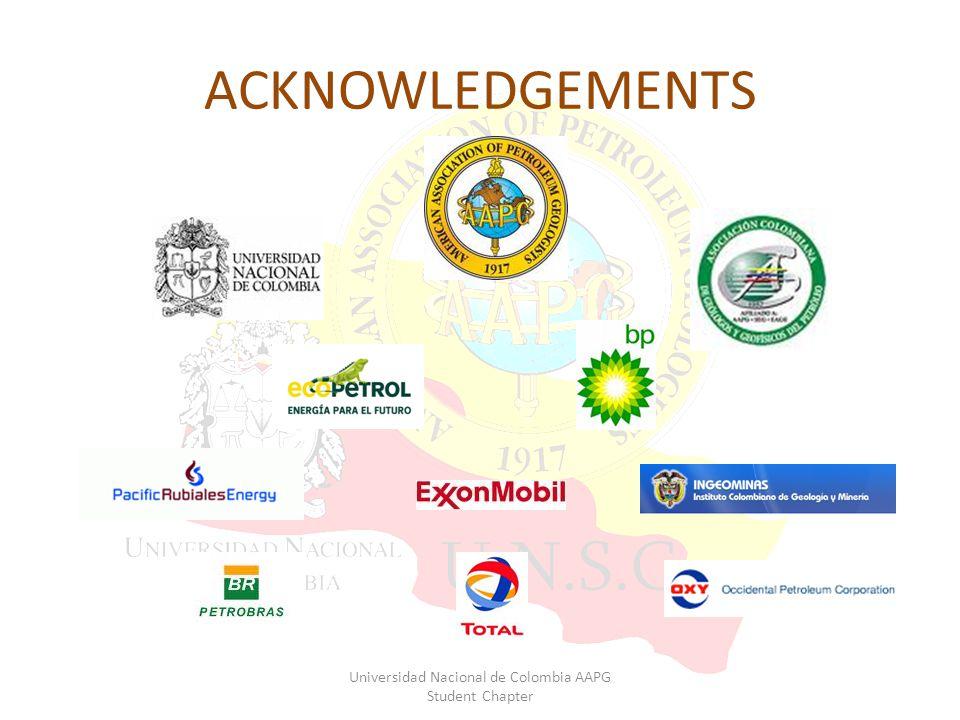 ACKNOWLEDGEMENTS Universidad Nacional de Colombia AAPG Student Chapter