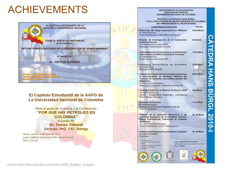ACHIEVEMENTS Universidad Nacional de Colombia AAPG Student Chapter