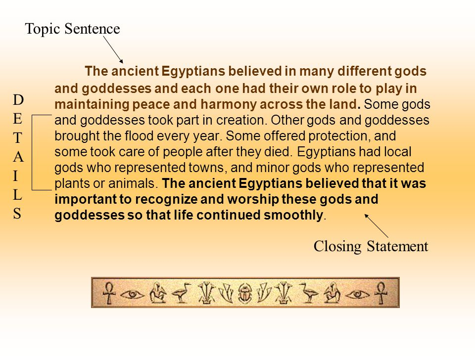 The ancient Egyptians believed in many different gods and goddesses and each one had their own role to play in maintaining peace and harmony across th