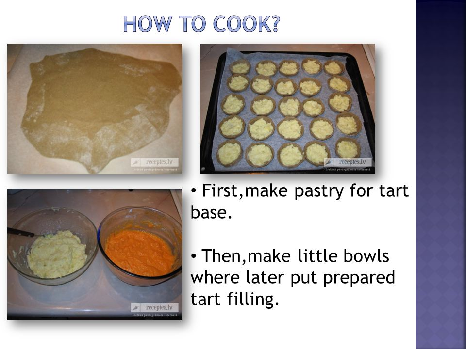 After that, make tart filling - boil potatoes and carrots, then blend them separately.