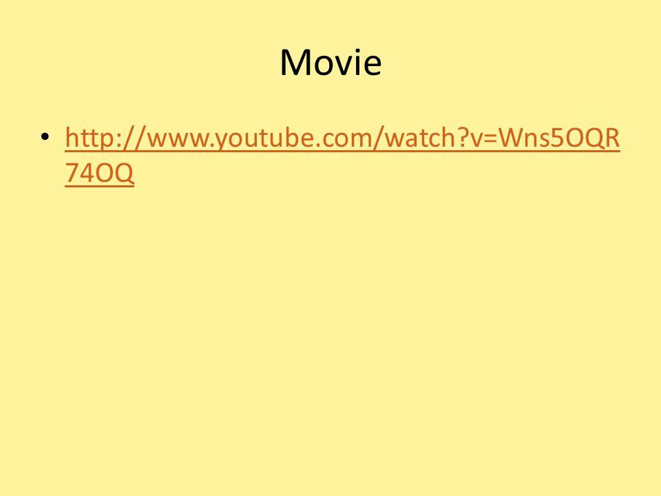 Movie http://www.youtube.com/watch?v=Wns5OQR 74OQ http://www.youtube.com/watch?v=Wns5OQR 74OQ