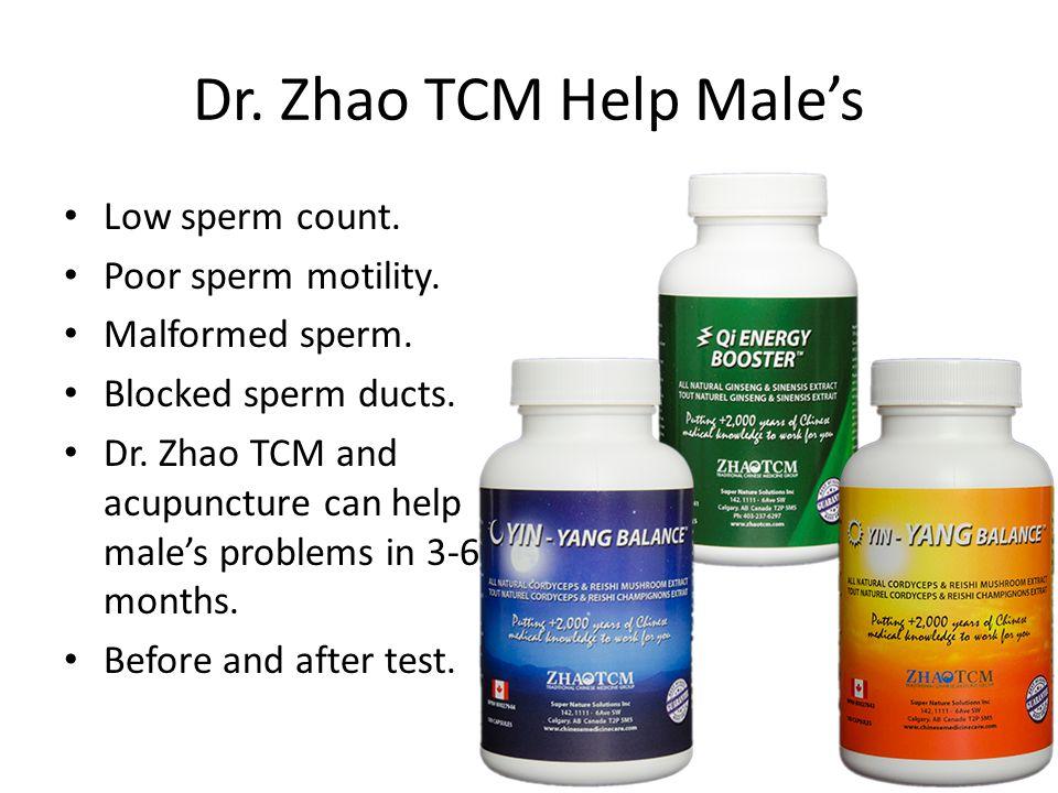 Dr.Zhao TCM Help Males Low sperm count. Poor sperm motility.
