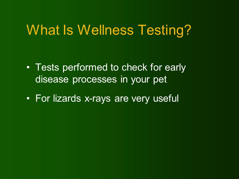 Why Consider Wellness Tests.