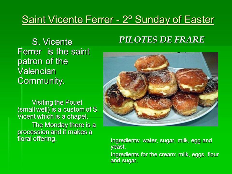 Saint Vicente Ferrer - 2º Sunday of Easter S.
