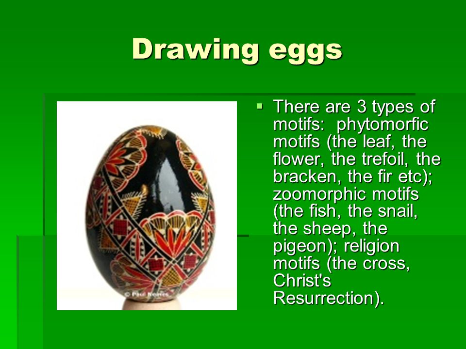 Drawing eggs