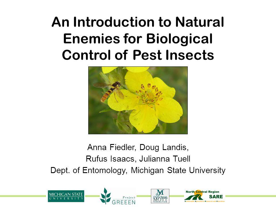 Dept. of Entomology, Michigan State University Anna Fiedler, Doug Landis, Rufus Isaacs, Julianna Tuell An Introduction to Natural Enemies for Biologic