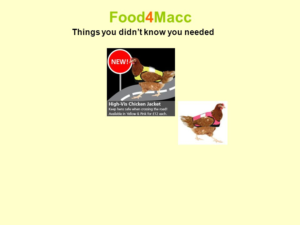 Food4Macc Things you didnt know you needed