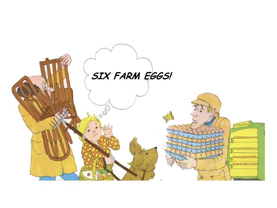 SIX FARM EGGS!