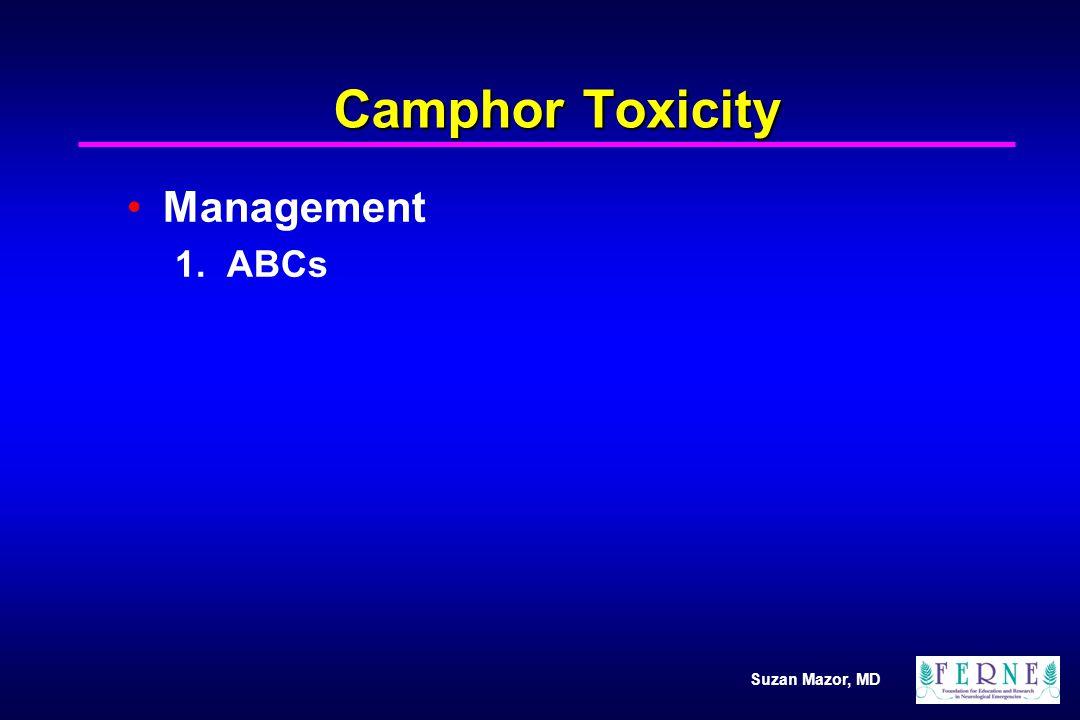 Suzan Mazor, MD Camphor Toxicity Management 1. ABCs