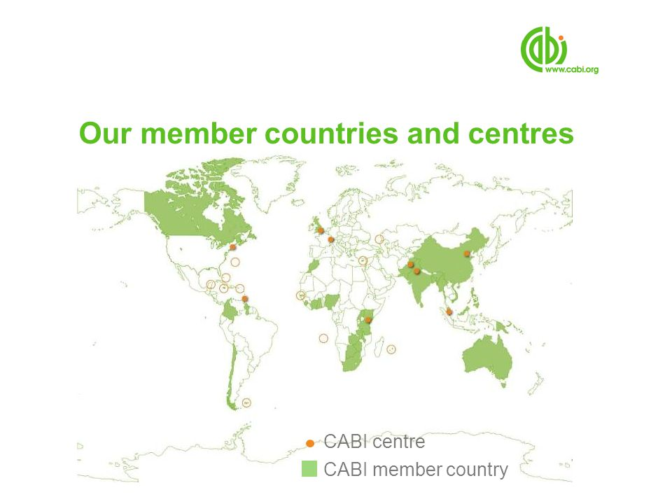 Our mission CABI improves peoples lives worldwide by providing information and applying scientific expertise to solve problems in agriculture and the environment KNOWLEDGE FOR LIFE