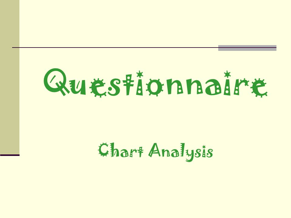 Questionnaire Chart Analysis