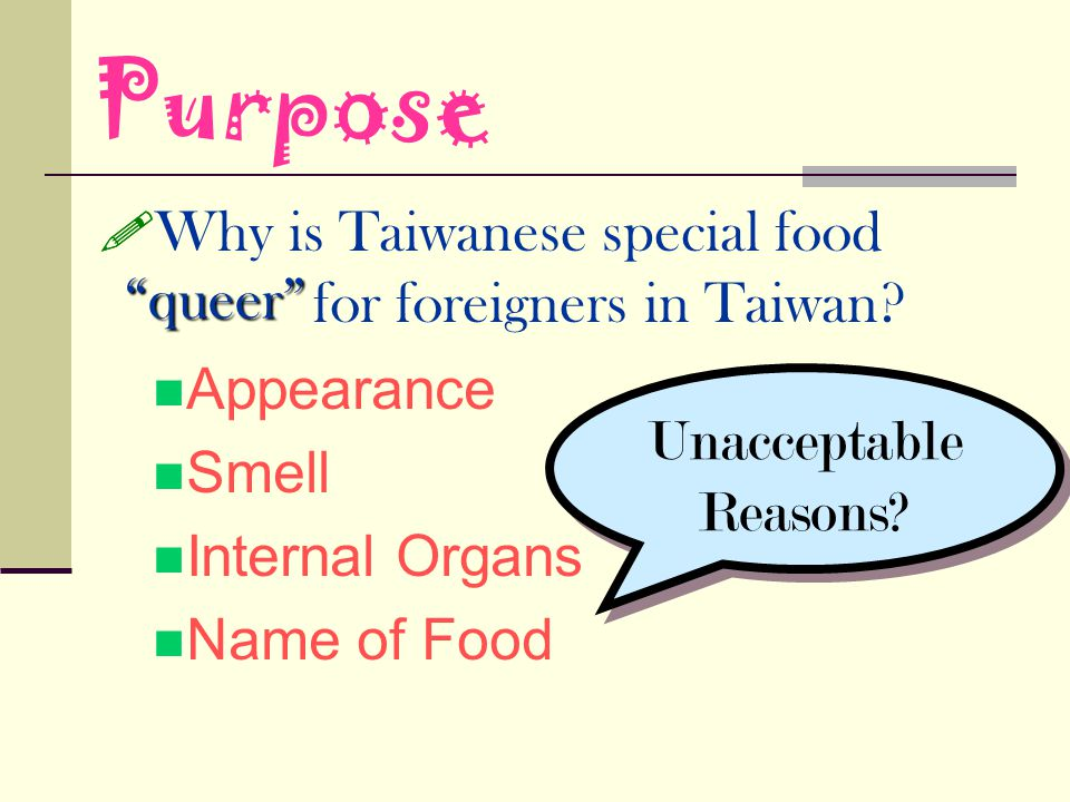Why is Taiwanese special food for foreigners in Taiwan.