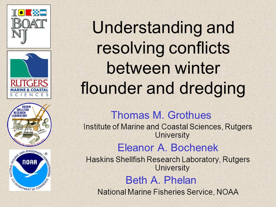 The conflict Winter flounder – a valuable resource Navigable waterways – a valuable resource Nexus occurs in estuarine waters