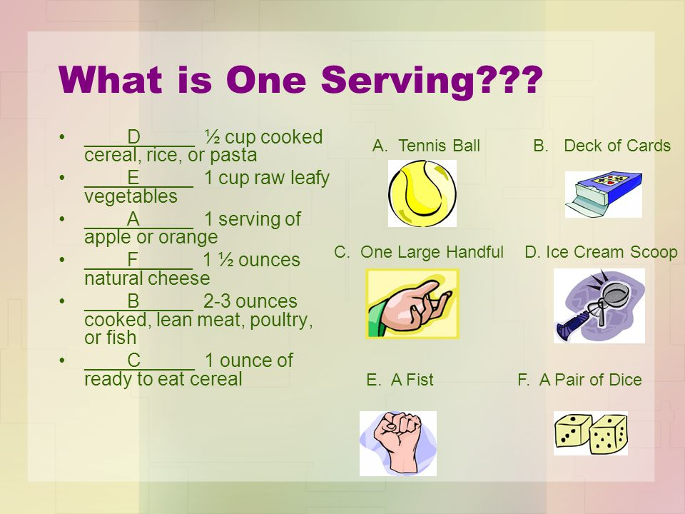 What is One Serving??.