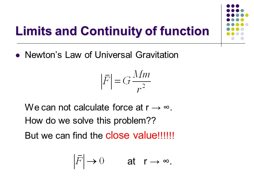 Limits and Continuity of function What is limits? Why do we use limits? When do we use limits??????