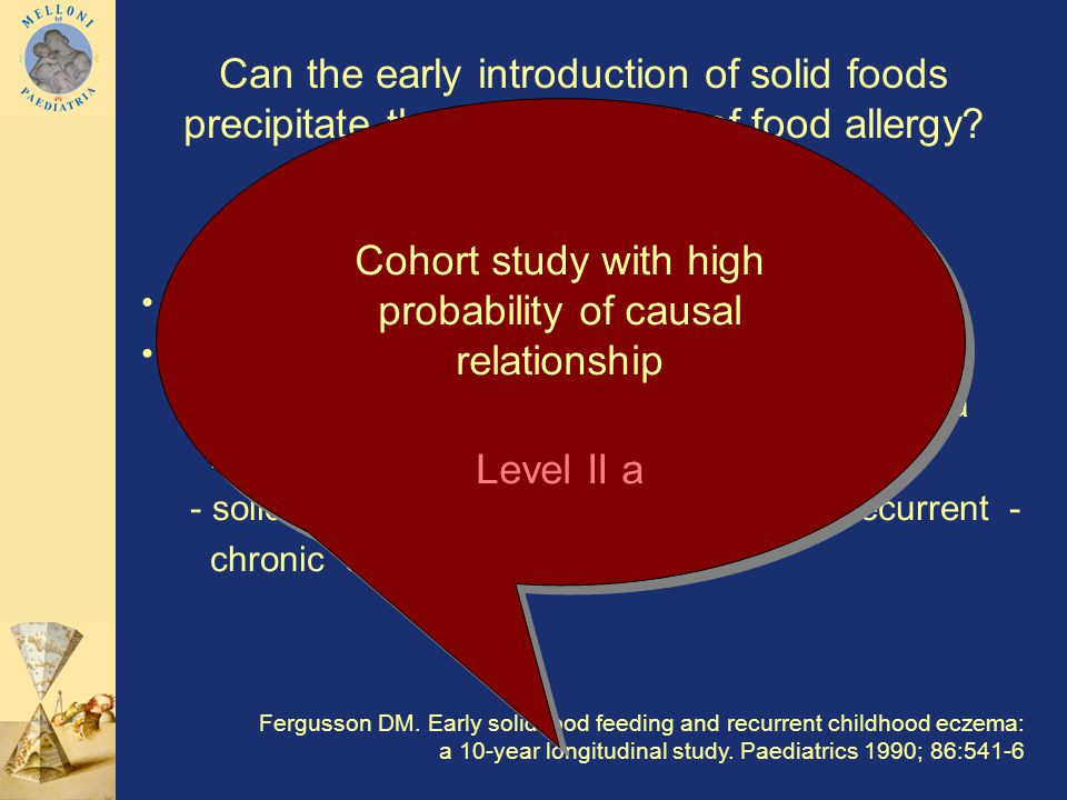 Can the early introduction of solid foods precipitate the development of food allergy.