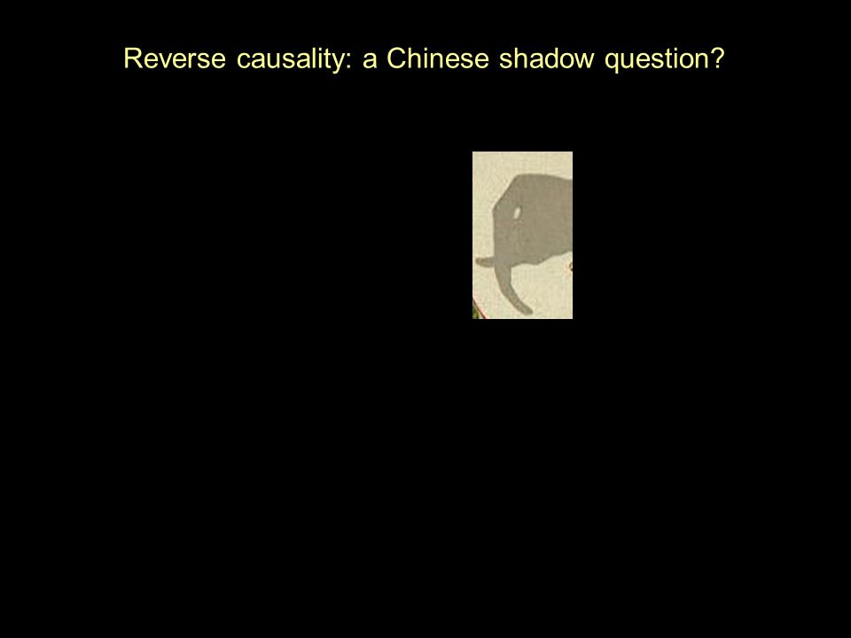 Reverse causality: a Chinese shadow question