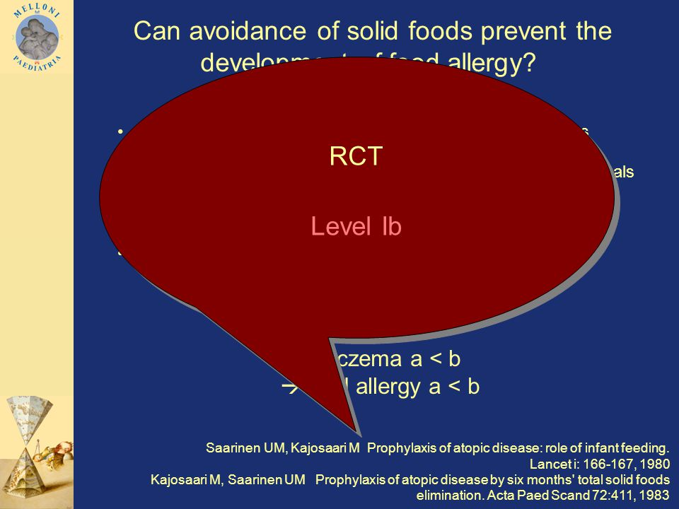 Can avoidance of solid foods prevent the development of food allergy.