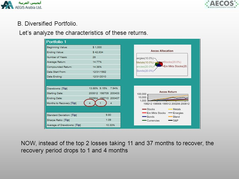 B. Diversified Portfolio. Lets analyze the characteristics of these returns.