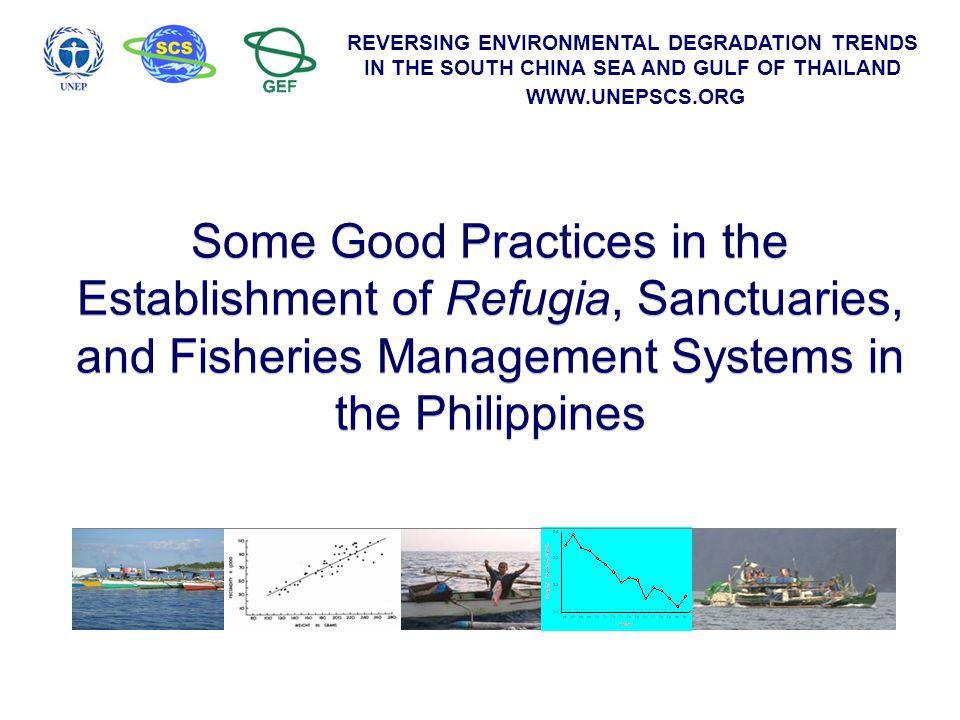 REVERSING ENVIRONMENTAL DEGRADATION TRENDS IN THE SOUTH CHINA SEA AND GULF OF THAILAND WWW.UNEPSCS.ORG pasayan (shrimps) lambay, kasag (crabs) banak, gisaw (algal grazers, herbivores) bawo, talakitok, tangigi (pelagic piscivores) ahaan, awman, pugawo (reef piscivores) Trophic level 1 2 3 4 potpot, moong, timbungan (soft-bottom zoobenthos feeders) mangsi, gilang maubgas (sardines) bolinao, guno (coastal planktivores) Algae Detritus Phytoplankton Zooplankton Average trophic level = 2.89