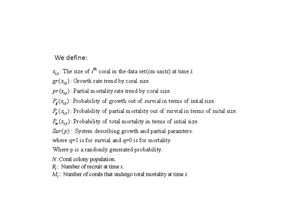 We define: