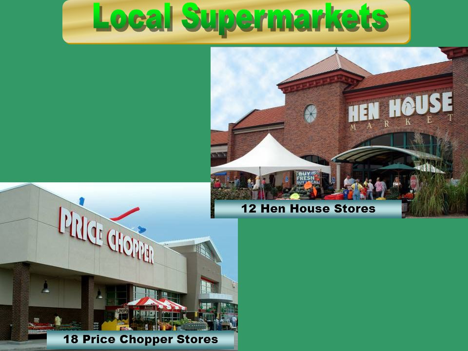 18 Price Chopper Stores 12 Hen House Stores