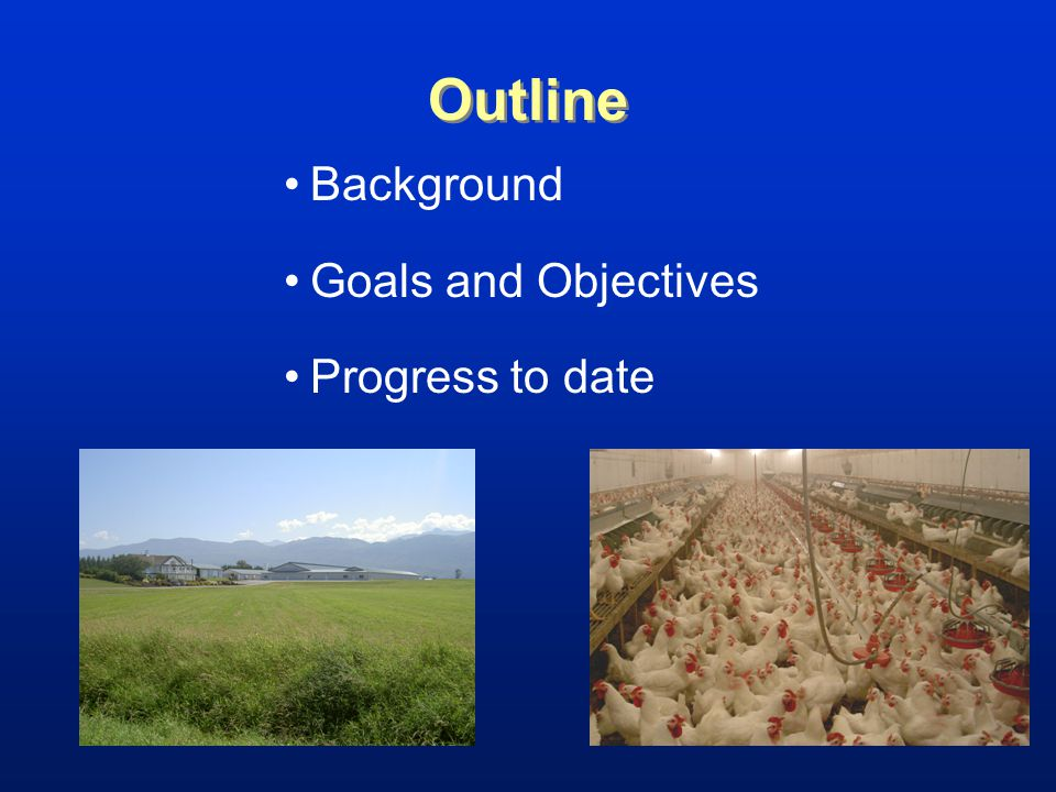 Outline Background Goals and Objectives Progress to date