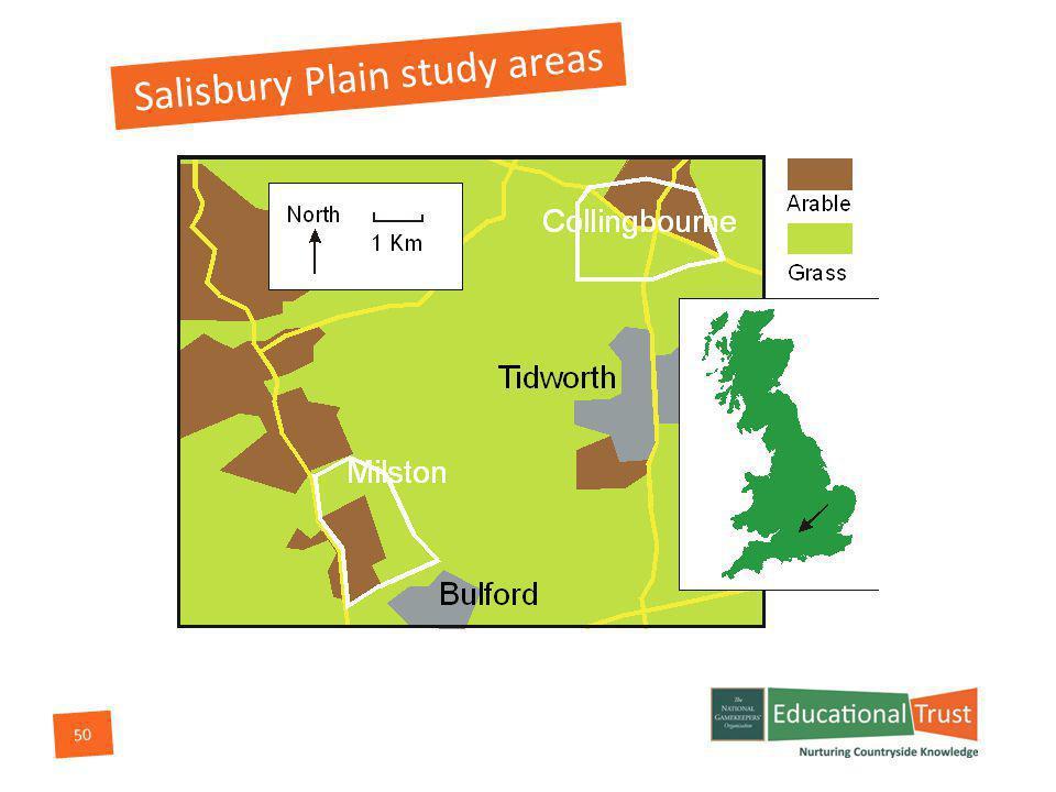 50 Salisbury Plain study areas