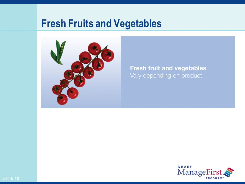 OH 6-10 Fresh Fruits and Vegetables