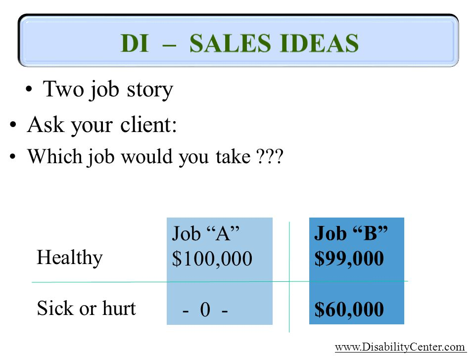 Two job story Ask your client: Which job would you take ??.