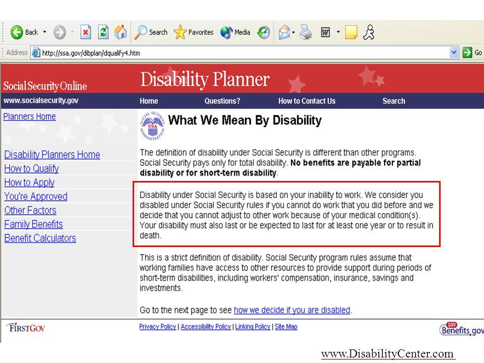 6/14/2014 www.DisabilityCenter.com