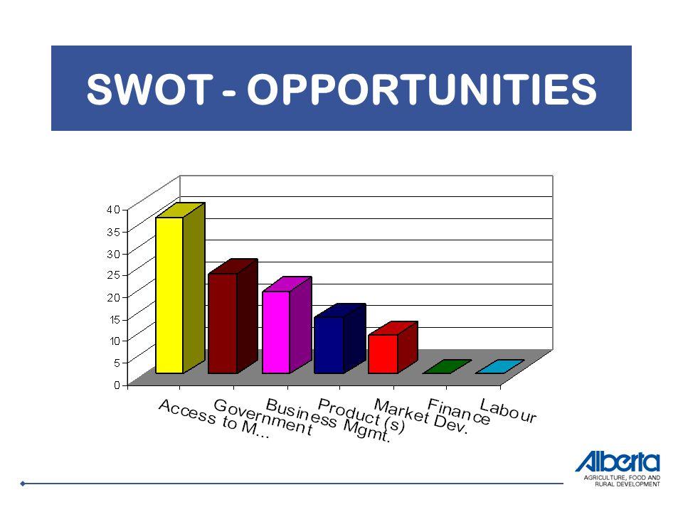 SWOT - OPPORTUNITIES