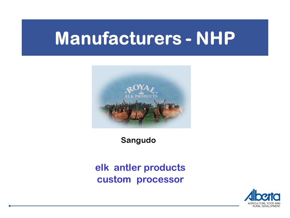 Manufacturers - NHP Sangudo elk antler products custom processor
