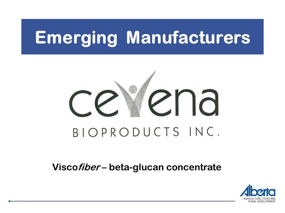 Emerging Manufacturers Viscofiber – beta-glucan concentrate