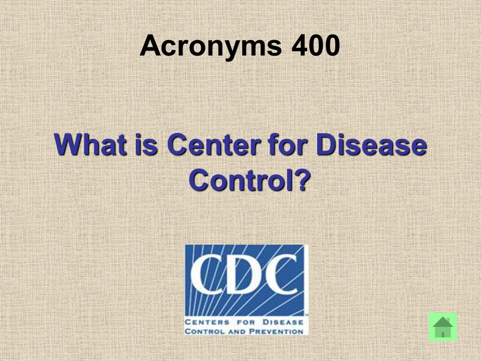 What is Center for Disease Control?