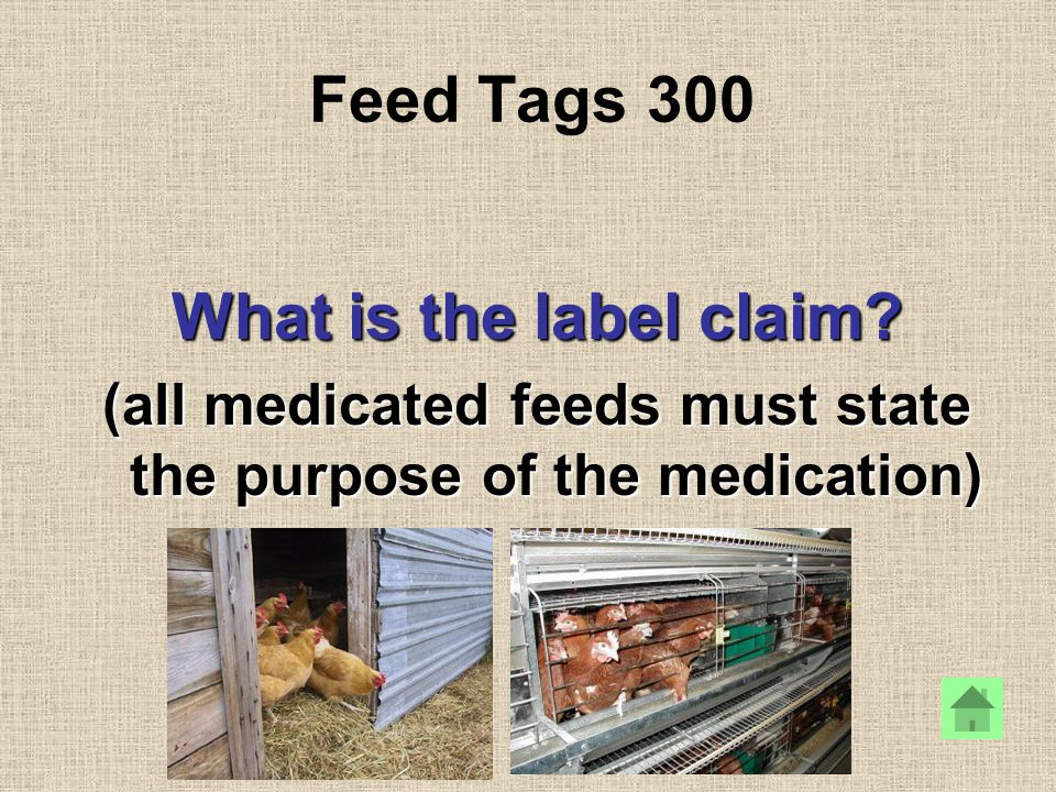 Feed Tags 300 What is the label claim.