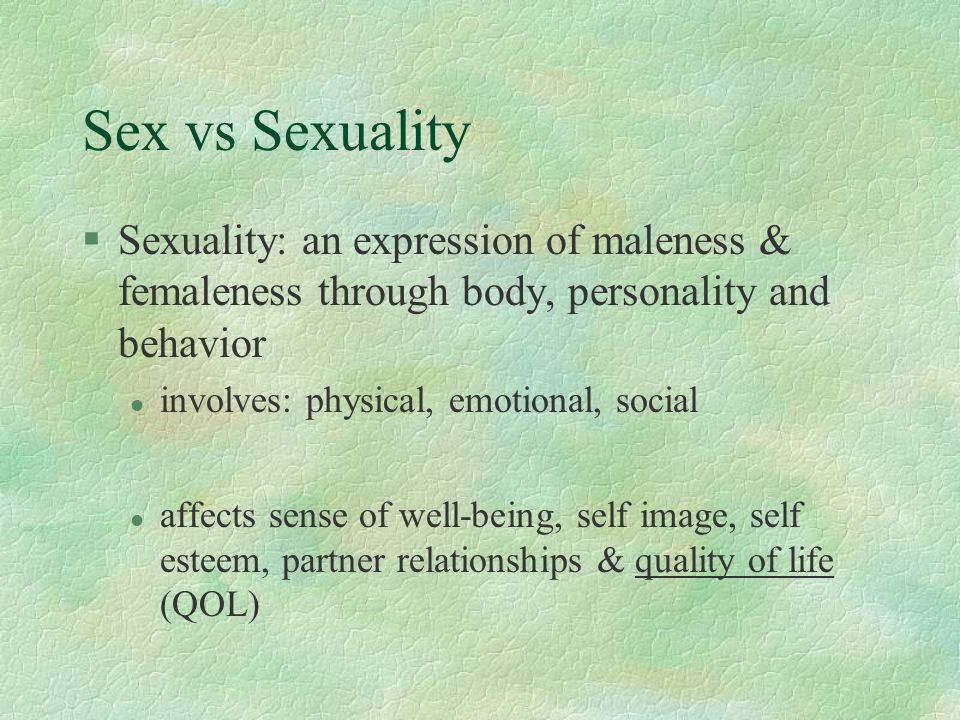 Female sexual activity (cont) §Orgasm reported in 54% l took more time and more intensity l relocation of erogenous zones reported l 71% reported pleasure above LOI §Favorite sexuality activities l Pre- SCI : intercourse l Post-SCI: kissing, hugging, touching