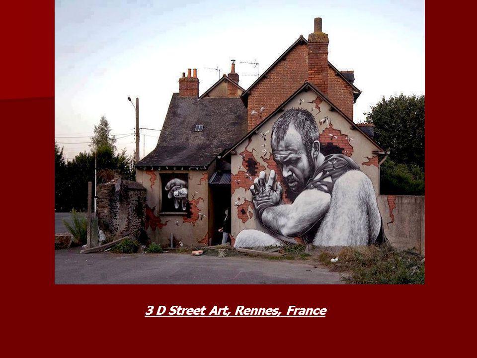 3 D Street Art, Rennes, France