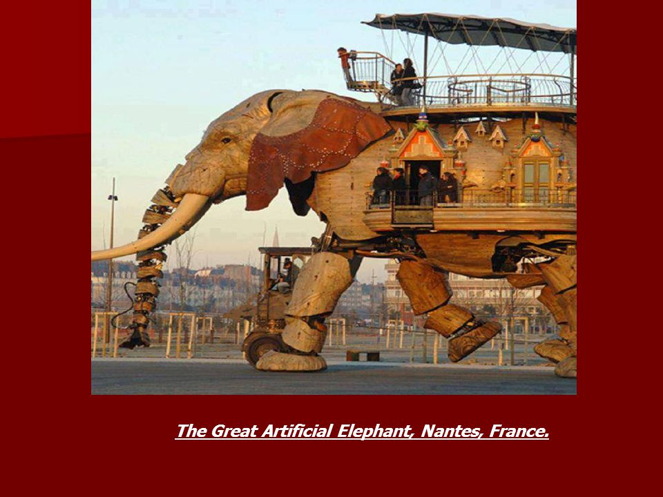 The Great Artificial Elephant, Nantes, France.