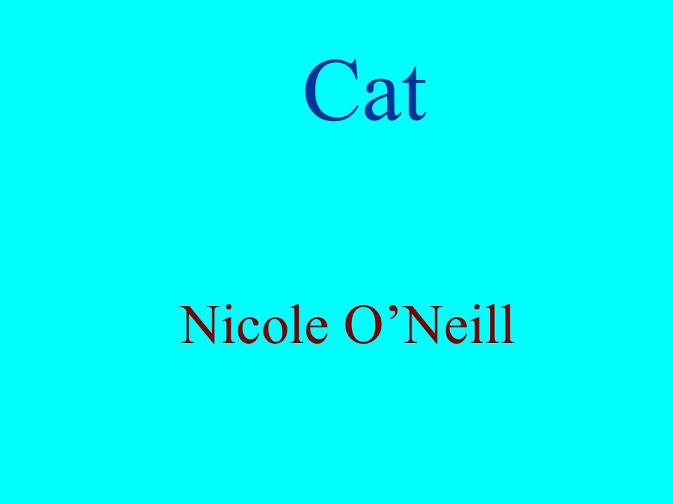 Cat Nicole ONeill