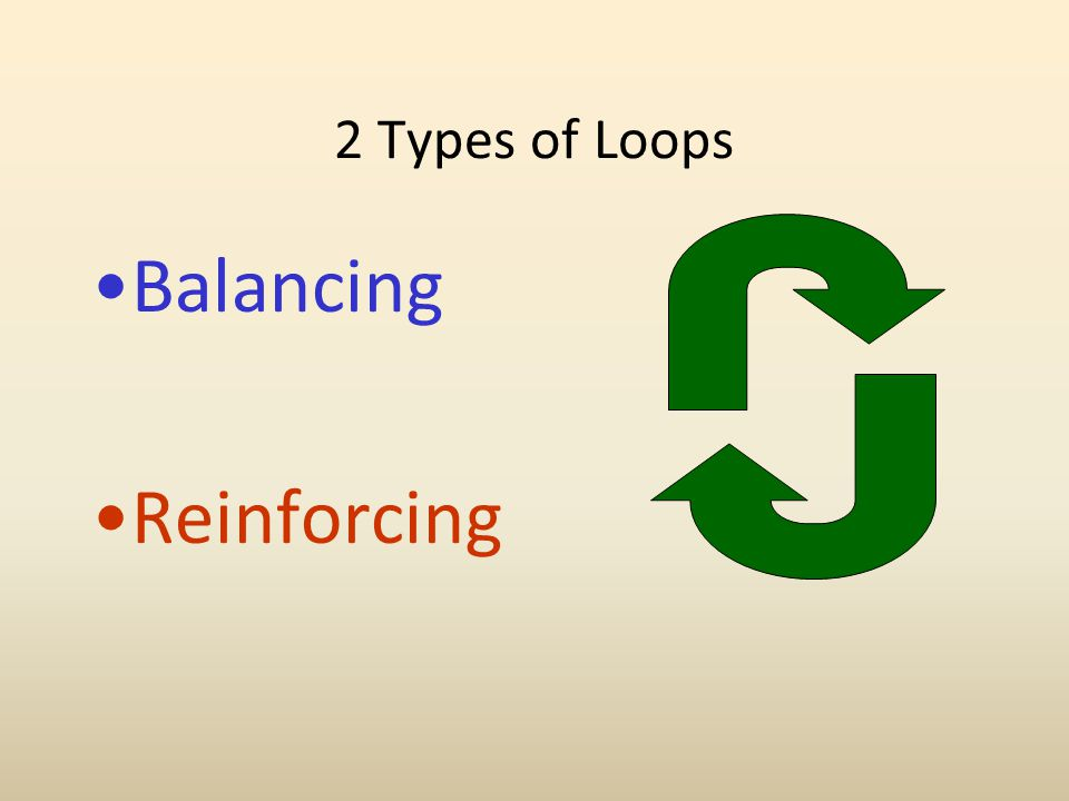 2 Types of Loops Balancing Reinforcing