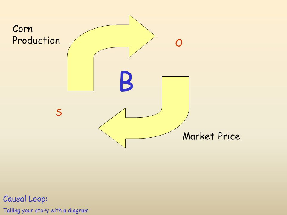 Corn Production Market Price S O Causal Loop: Telling your story with a diagram B