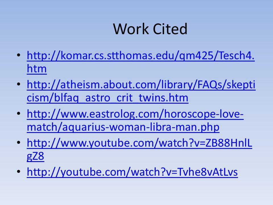 Work Cited http://komar.cs.stthomas.edu/qm425/Tesch4.